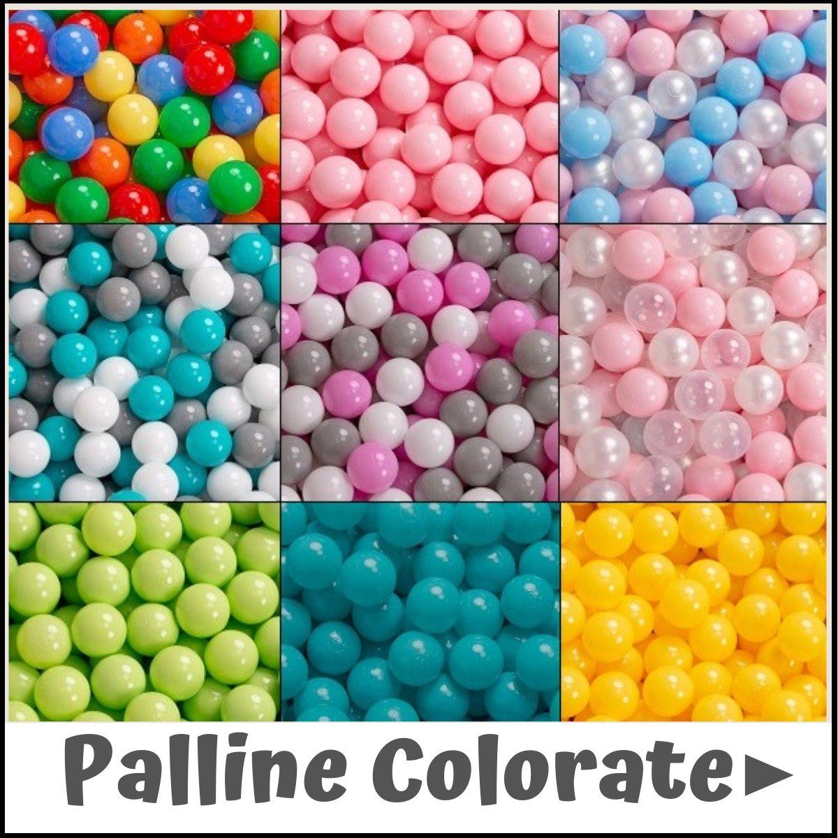 Perla//Grigio//Trasparente//Azzurro//Menta Menta KiddyMoon 90X40cm//200 Palline /∅ 7CM Quadrato Piscina di Palline Colorate per Bambini Fabbricato in EU
