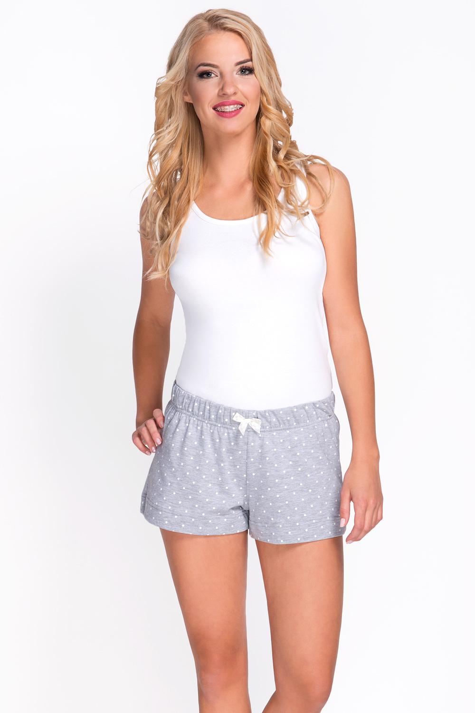 babella 3087 1 pyjamashorts damen nachtw sche kurz gepunktet unterteil grau ecru nachtw sche. Black Bedroom Furniture Sets. Home Design Ideas
