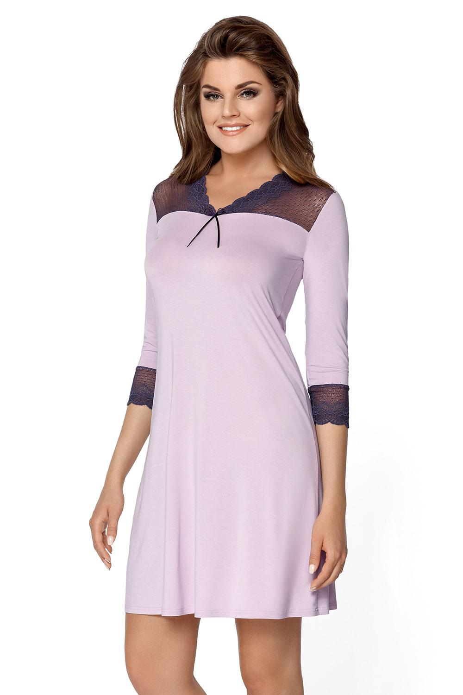 4dd30b5770 ... Babella Damen Nachthemd Spitze glatt Nachtwäsche elegant Penelopa ...