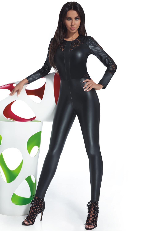 on sale feb0b 81419 Bas Bleu Rosie Jumpsuit Damen Overall langarm Spitze Rundhals  Reißverschluss musterlos