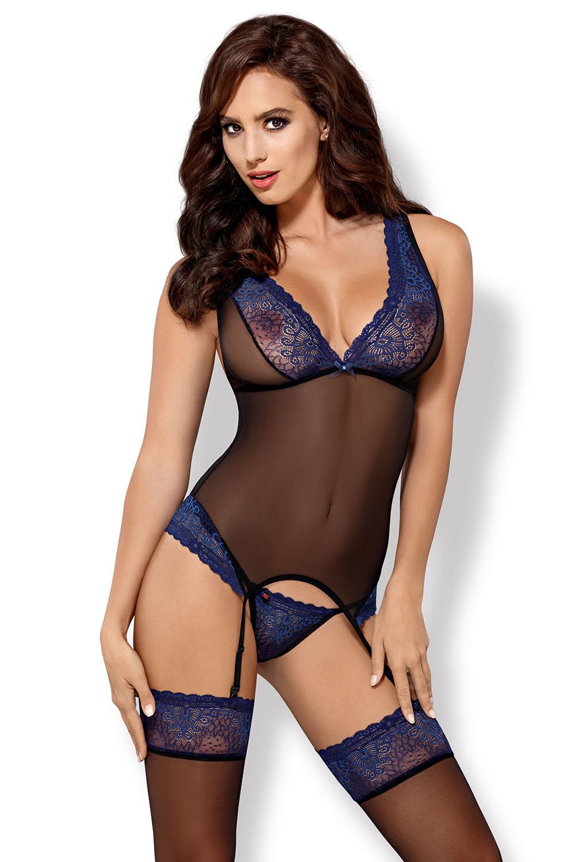 buy online d2ab7 8b6f7 Obsessive Damen Korsett Nachthemd Straps String Dessous 850-COR-6