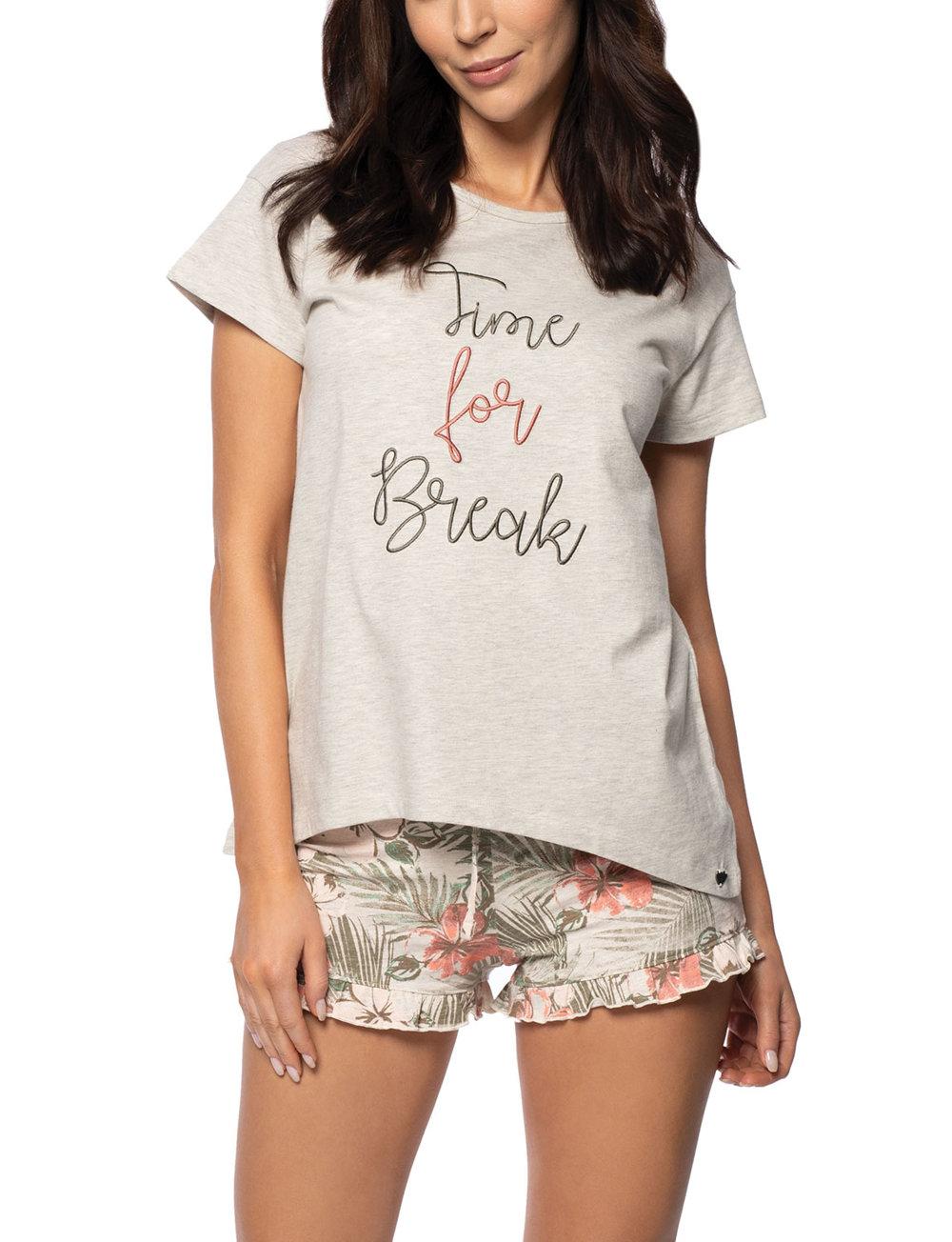 Outlet-Boutique exquisites Design Bestseller einkaufen Rossli Damen Pyjama Schlafanzug kurzarm SAL-PY-1134 I