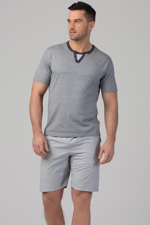 timeless design fab7e c77a9 Rössli Herren Pyjama Set gemustert Schlafanzug SAM-PY-116