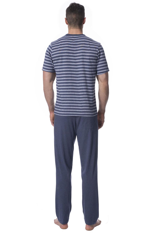 74b79404de7049 ... Rossli SAM-PY141 Herren Pyjama Set Schlafanzug zweiteilig kurzarm lange  Hose ...