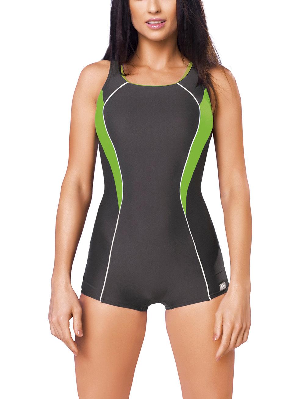 2019 Ausverkauf reduzierter Preis vollständige Palette von Spezifikationen gWINNER Isabel I Badeanzug Dame Bademode Sport musterlos Shorts