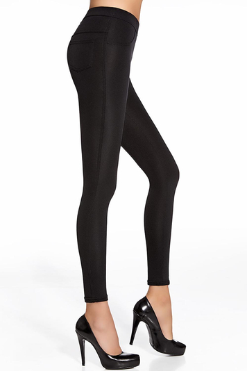 Bas Bleu Damen Leggings Treggings 200 DEN  Micro-Plush Top Qualität Marika