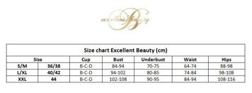 Excellent Beauty C-410 Korsett+String Bügel Cups Spitze Ösenverschluss