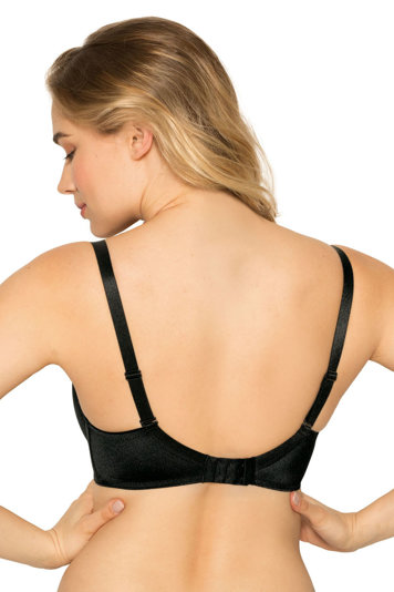 Gaia Damen Push-Up BH Bügel Dessous trägerlos glatt 639 Jean